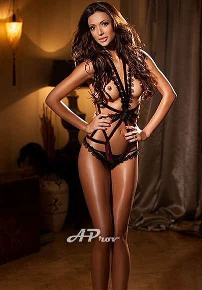 Slim Busty Brunette London Escort Athina