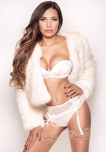 London Latin Elite Brunette Escort Karen