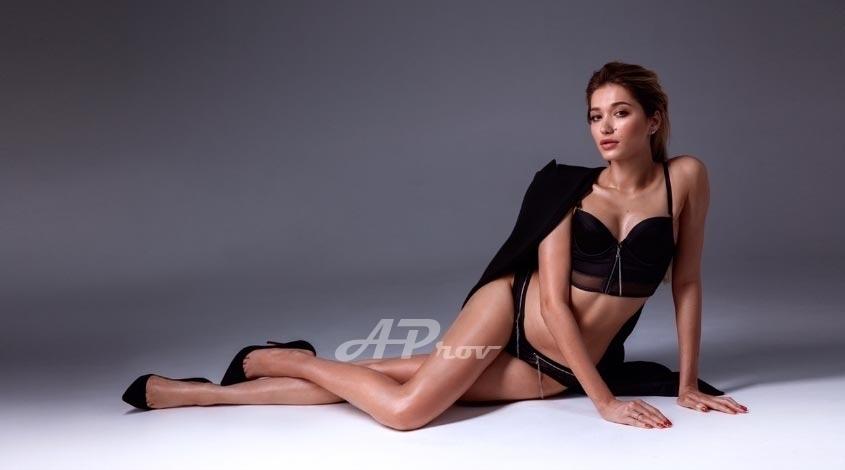 sexy blonde girl high end elegant model date london Nastya